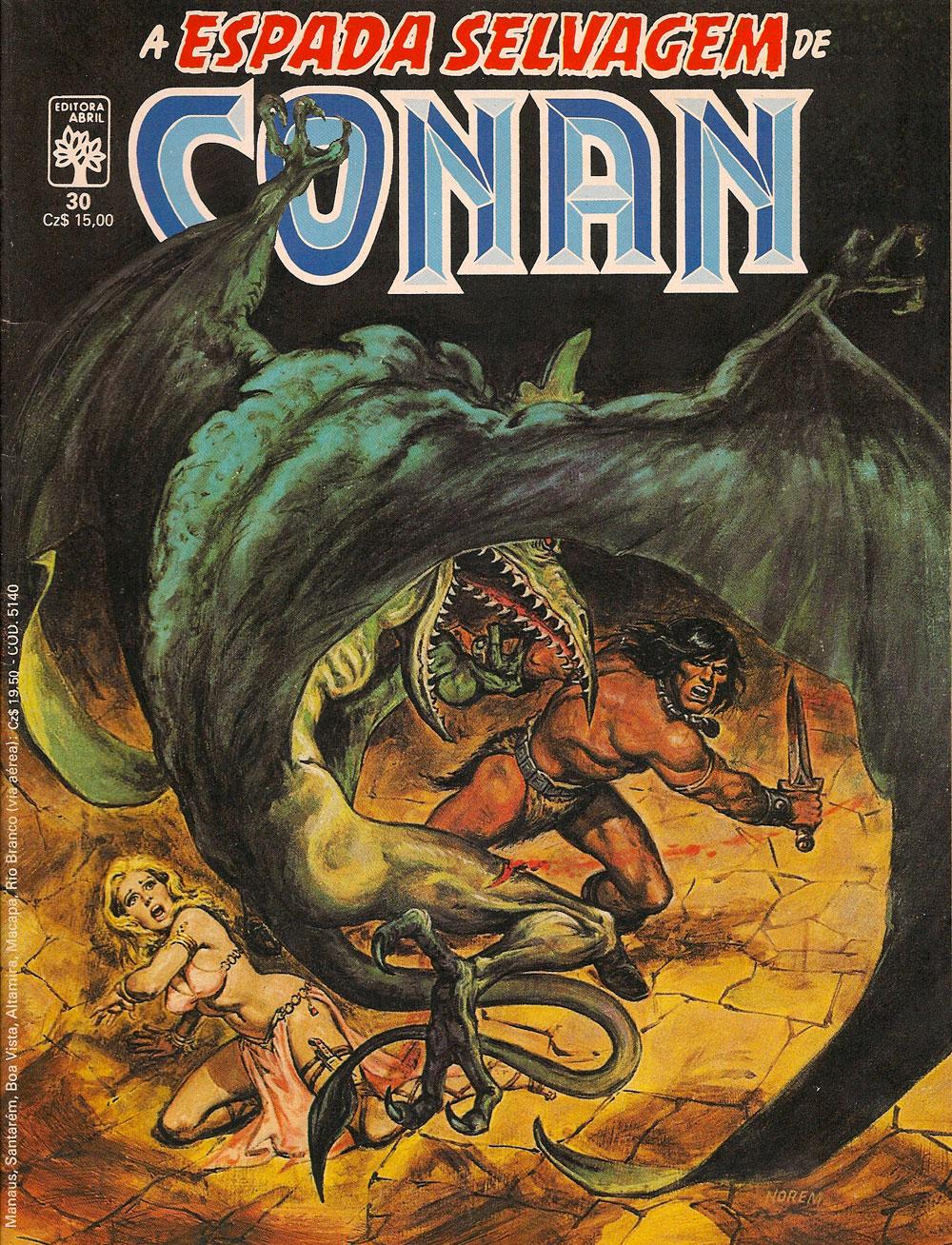 Capa: A Espada Selvagem de Conan 30