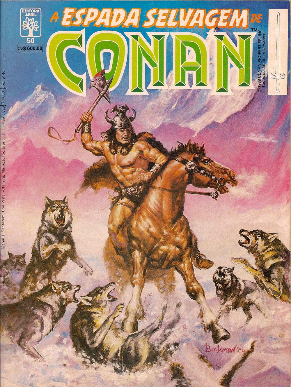 Capa: A Espada Selvagem de Conan 50