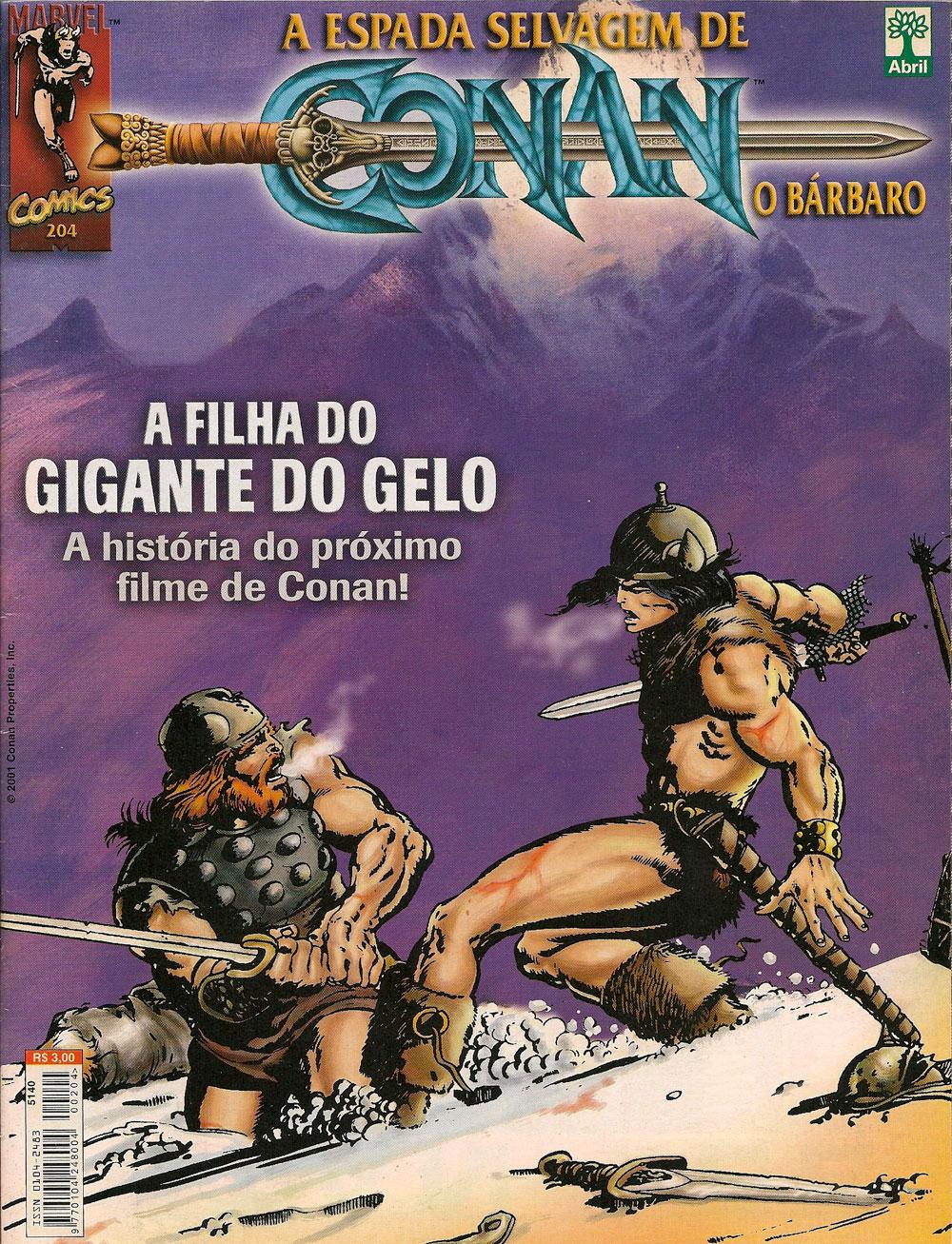 Capa: A Espada Selvagem de Conan 204