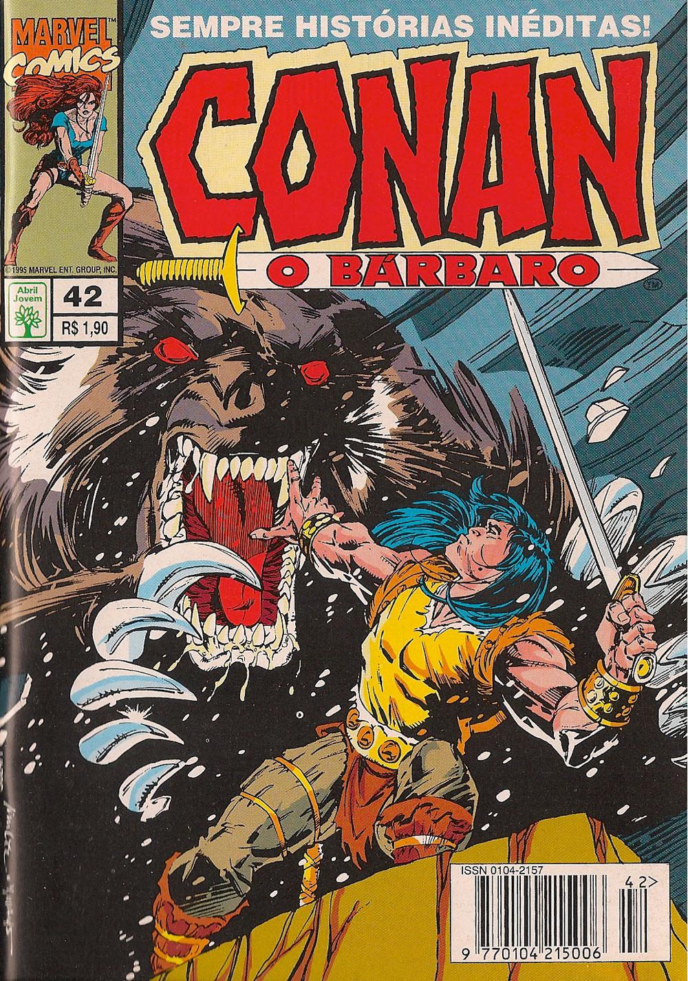 Capa: Conan, O Bárbaro Abril 42