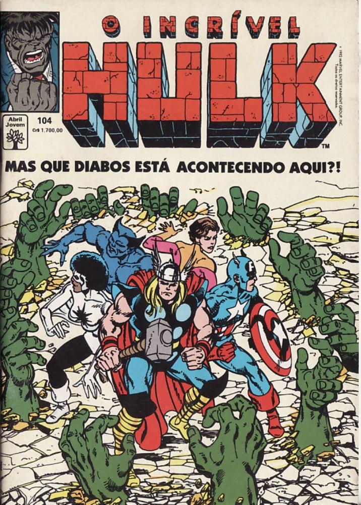 Capa: O Incrível Hulk Abril 104
