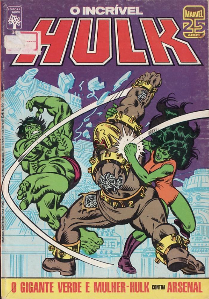 Capa: O Incrível Hulk Abril 34