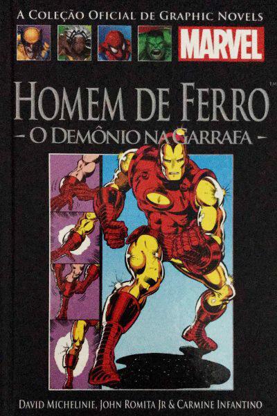 Capa: A Coleção Oficial de Graphic Novels Marvel (Salvat) - Homem De Ferro: O Demônio Na Garrafa 1